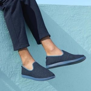 Allbirds Kotare Ocean Blue Slip On Wool Loungers